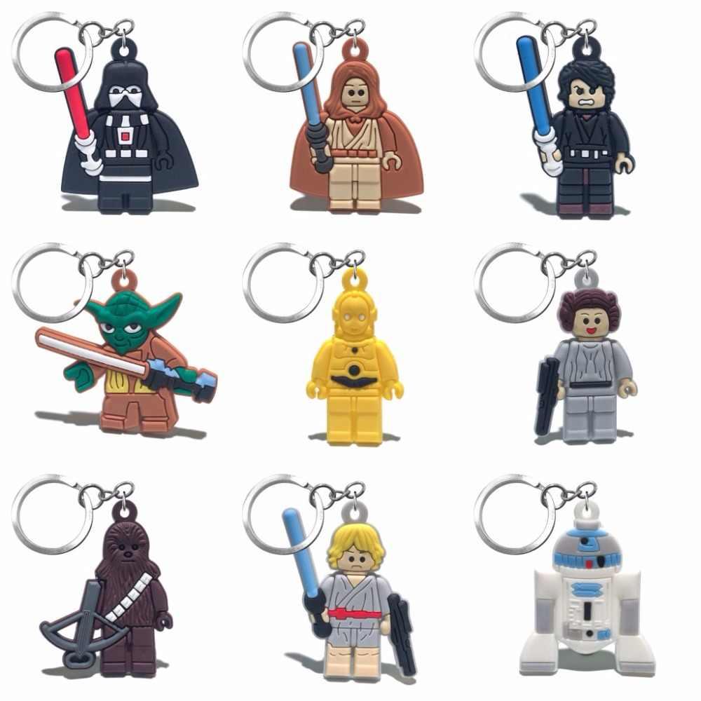 2018 חדש 1PCS מלחמת הכוכבים מפתח שרשרת PVC Cartoon דמות מפתח טבעת ילדים צעצוע תליון אנימה Keychain מפתח מחזיק אופנה תכשיט מתנות