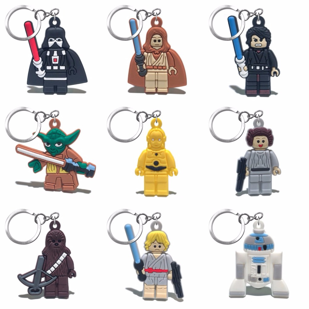 2018 New 1PCS Star Wars Key Chain PVC Cartoon Figure Key Ring Kids Toy Pendant Anime Keychain Key Holder Fashion Trinket Gift