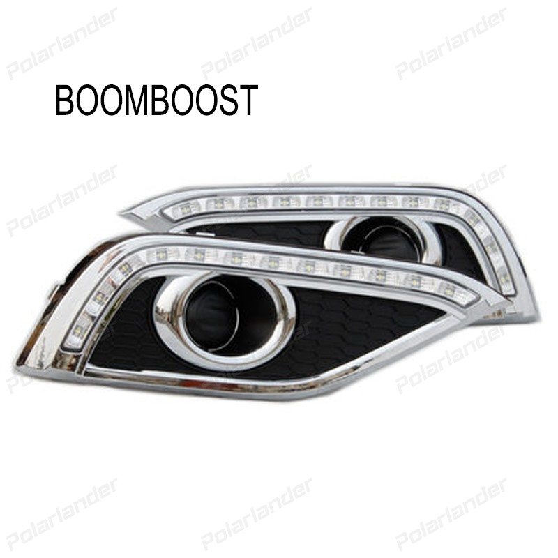 BOOMBOOST For H/onda C/RV 2012-2015 daytime running lights car styling 2PCS AUTO LAMPS boomboost 2pcs car accessory led for h onda f it or ja zz 2014 2015 car stylng daytime running lights