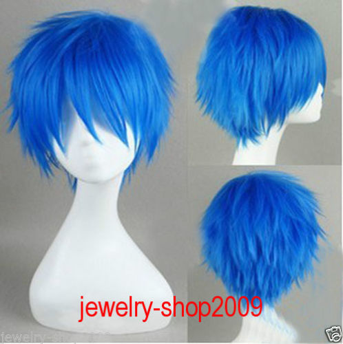 Bright Short Cosplay Home Kaito Brother Blue Turned Alice Wig