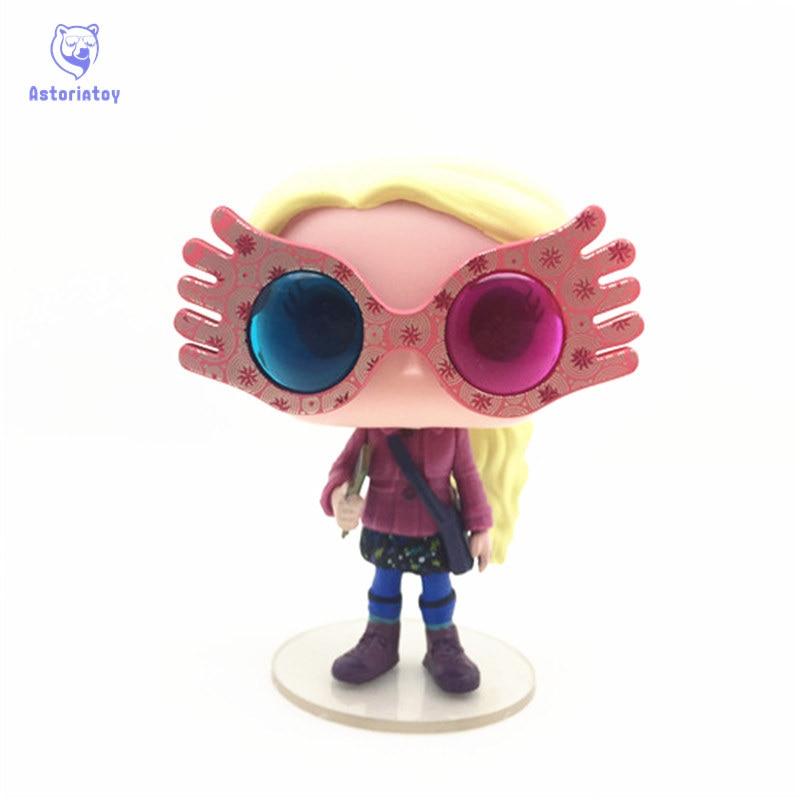 NEW 10cm Harry Potter Luna with glasses action figure big Bobble Head Q Edition no box for Car Decoration ...