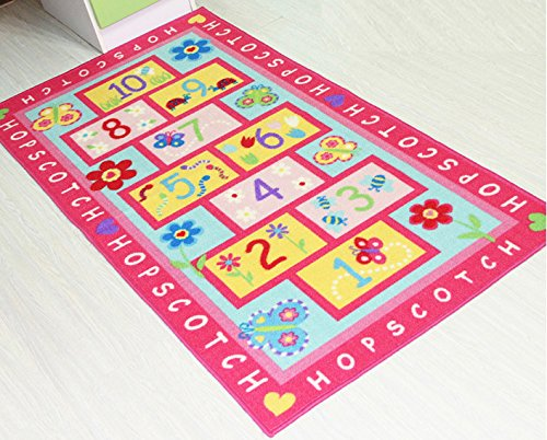 Attractive Unique Cartoon Numbers Printed Kids Rugs And Carpet Tapeta Designer Pink  Fairy Girls Rug For Living