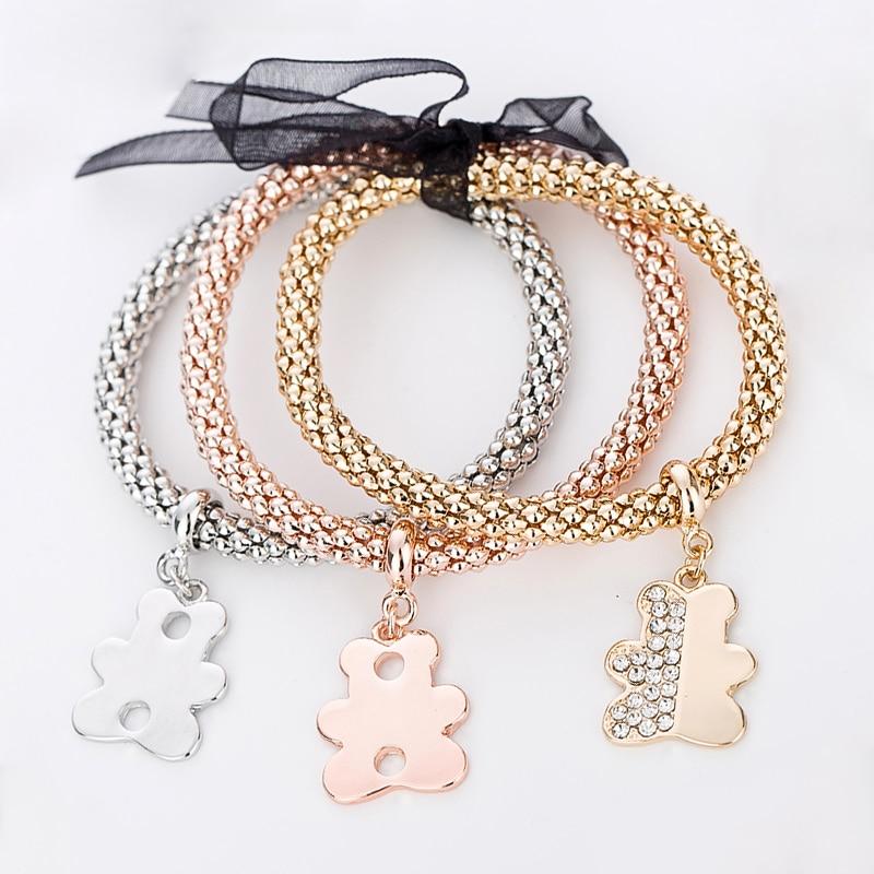 Strass charme armbänder & armreifen für frauen rose gold / silber - Modeschmuck - Foto 5