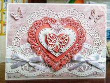 Heart Lace Frame Metal Cutting Dies for Card Making