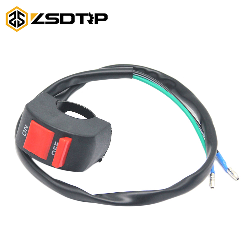 ZSDTRP Universal 12V Motorcycle Switches 7/8 22mm Handlebar Mount Headlight Fog Light Horn ON OFF Start Kill Switch image