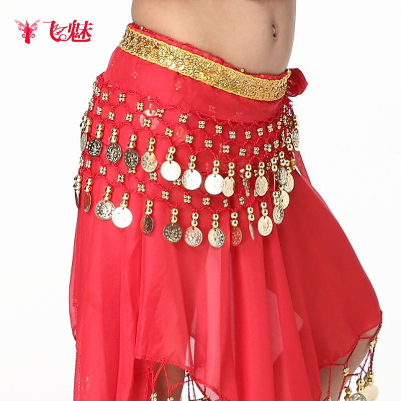 Belly Dance Belly Chain Cummerbund Child Huazhung Chiffon Belly Chain Belly Dance Clothes Accessories  Free Shipping
