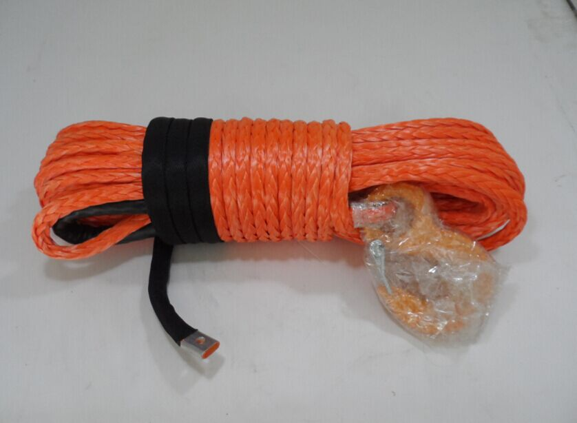 Free Shipping 12mm*30m Orange Synthetic Winch Rope,Winch Cable 12mm,Boat Winch Rope,Off Road Rope