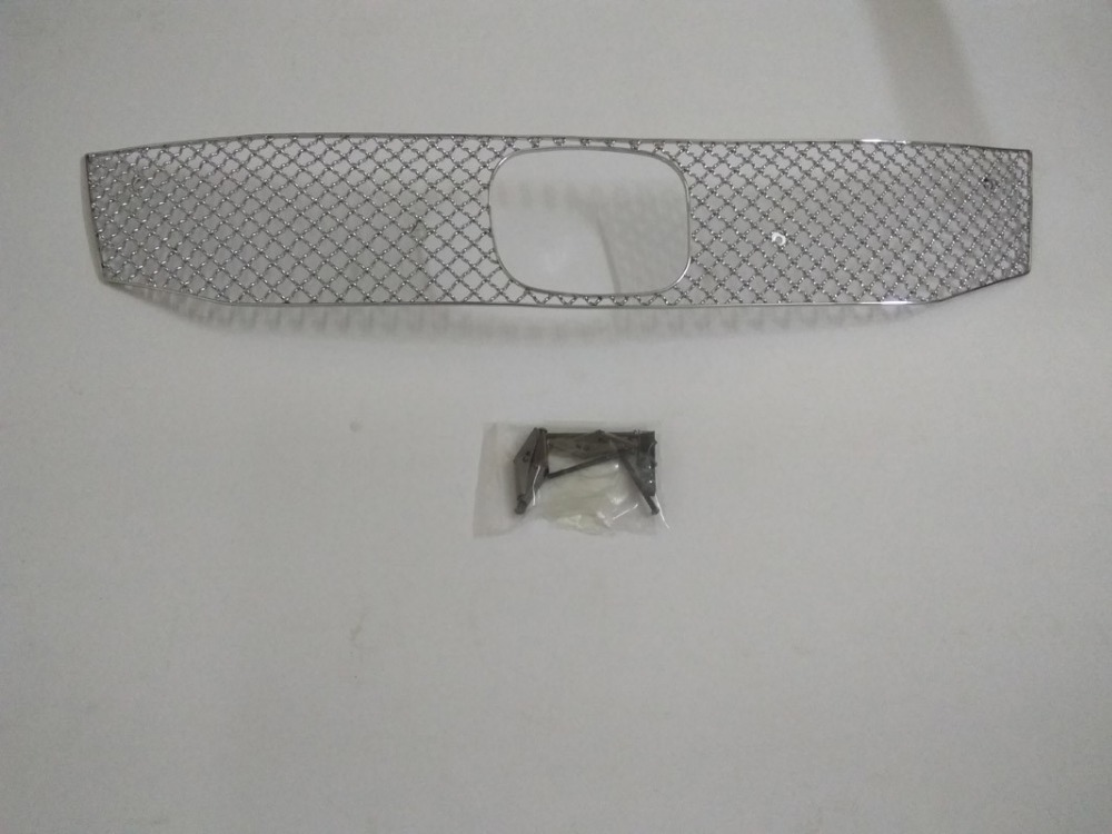 For <font><b>Honda</b></font> <font><b>Accord</b></font> <font><b>2008</b></font>-2010 Stainless Steel LOW Auto Front Bumper Honeycomb Mesh <font><b>Grille</b></font> 1pc image