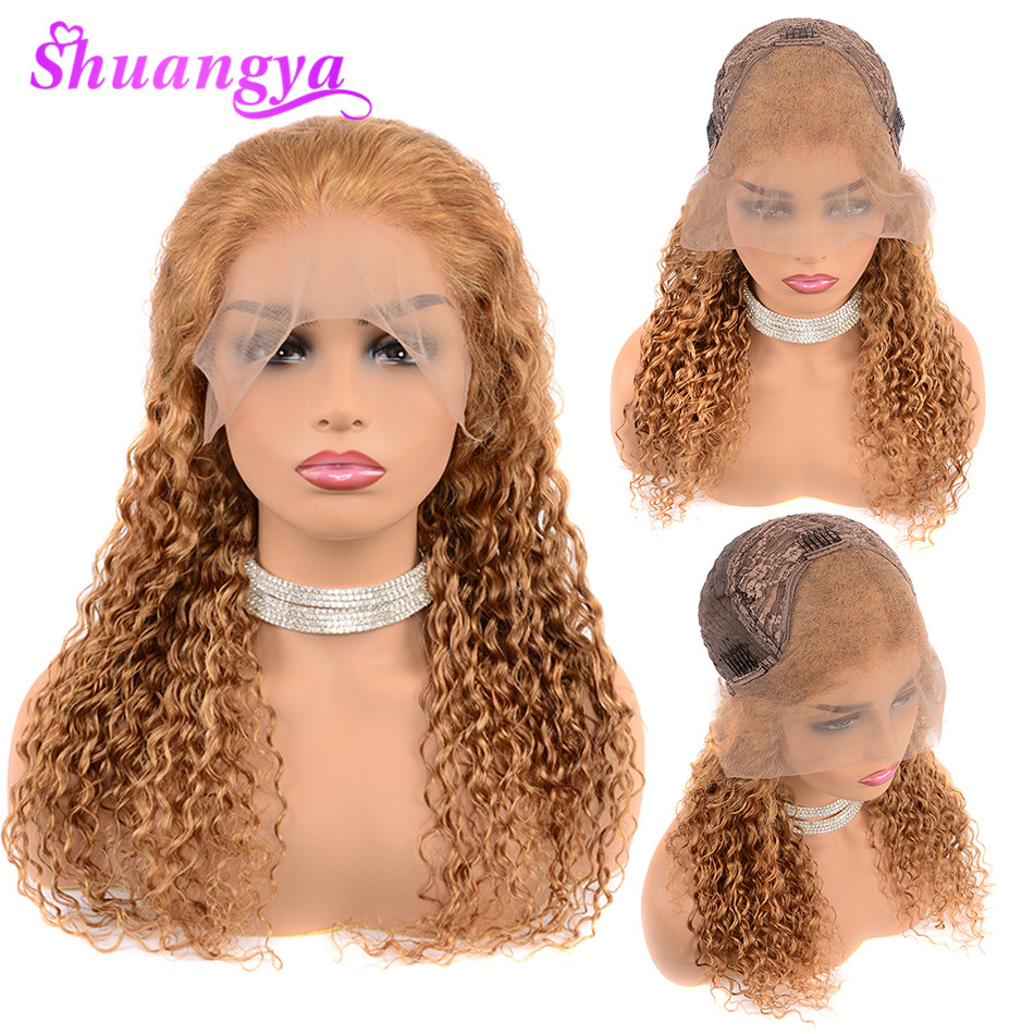 Deep Wave Lace Front Human Hair Wigs With Baby Hair 150 Density Brazilian Human Hair For