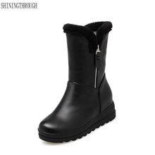 Новые модные женские ботинки на молнии; ботильоны; ботинки на плоской платформе; женские зимние ботинки; модельные туфли; женская обувь; большие размеры 34-43