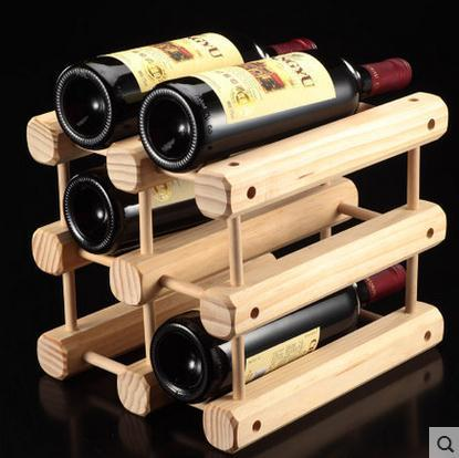 1pc High Quality New Solid Wood Wine Bottle Racks Wine Stand Wooden