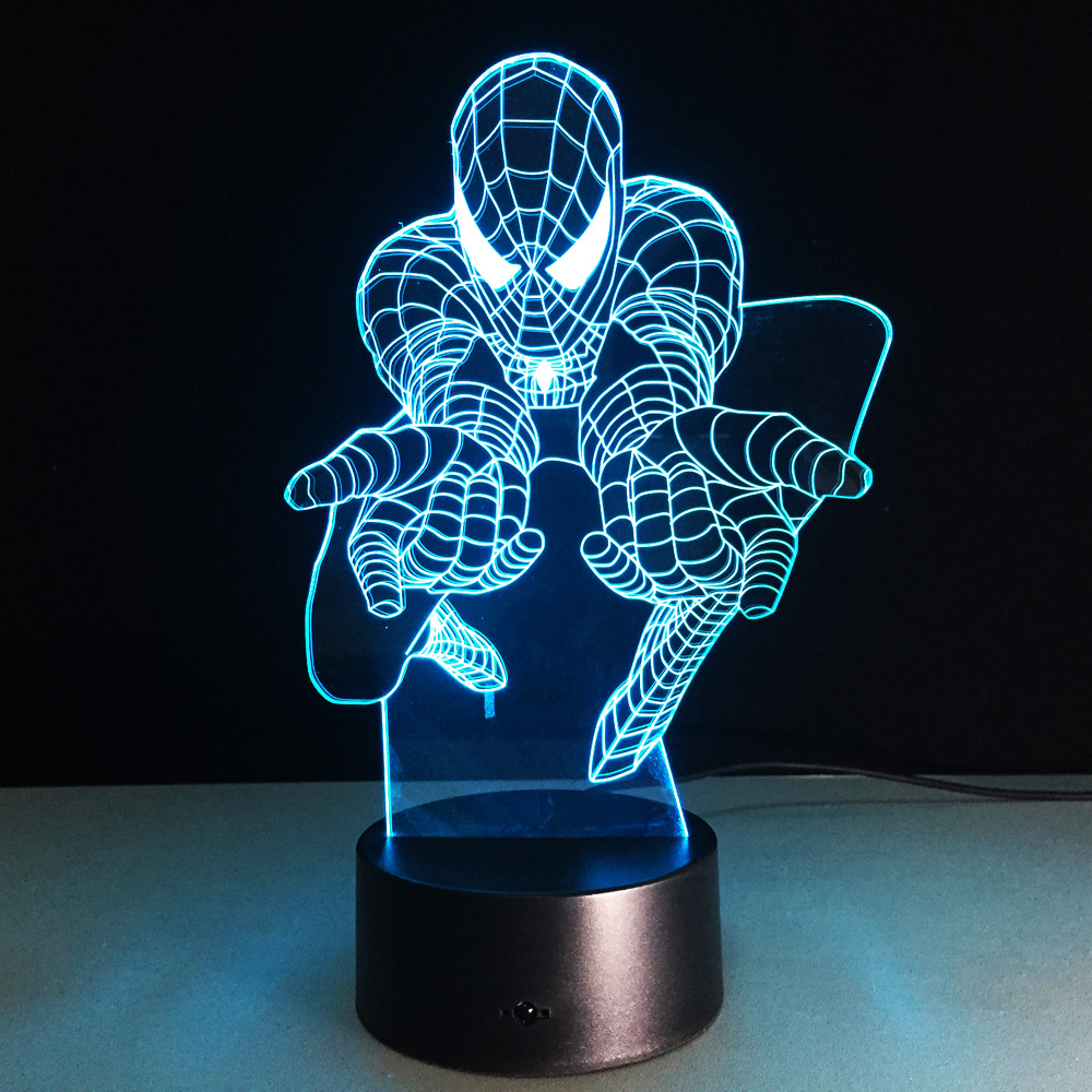 Novelty Led Usb 3d Lamp Wall Light Battery Operated