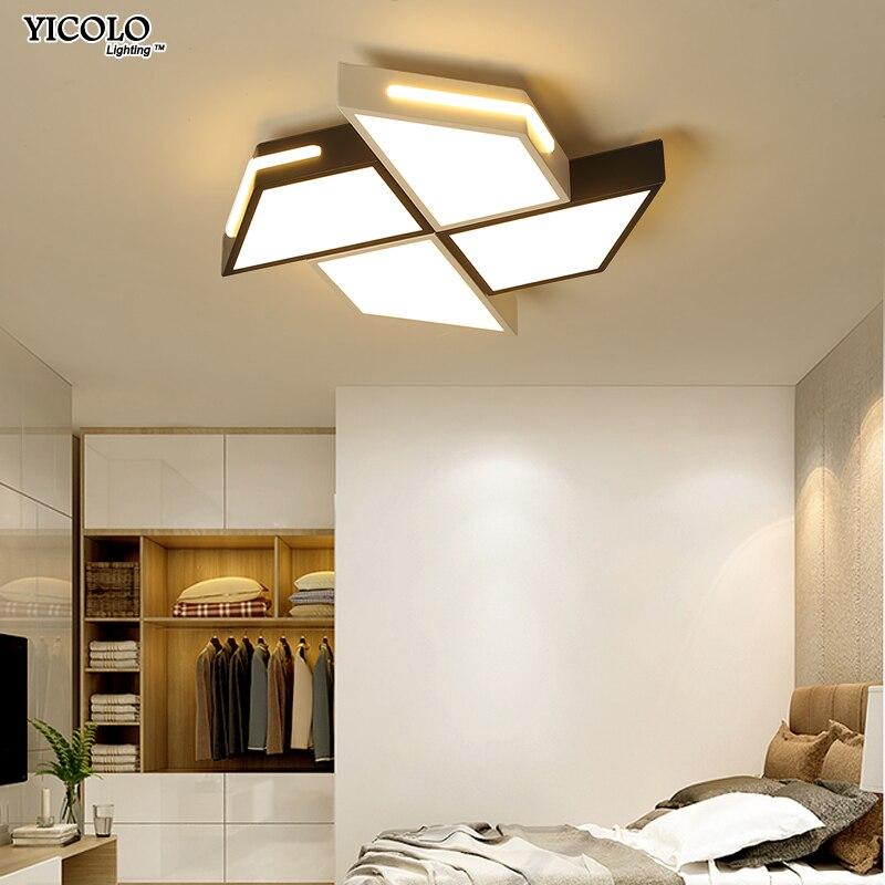 Acrylique Moderne Lustre Éclairage Intérieur Simple LED lustre Pour chambre cuisine salon Luminaires télécommande