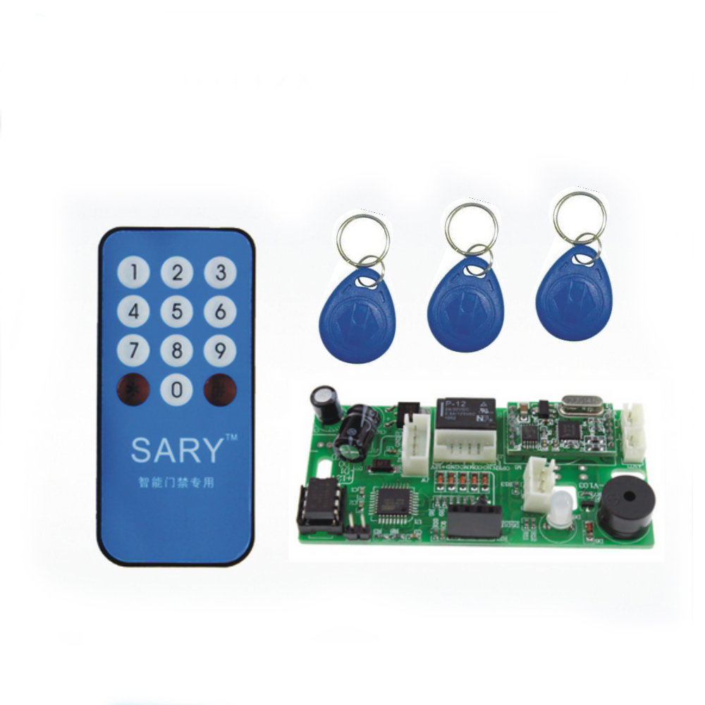 Sy-RK1688M 13.56MHZ ic control board double coil /built-in Elevator control RFID reader+10pcs cards+remote