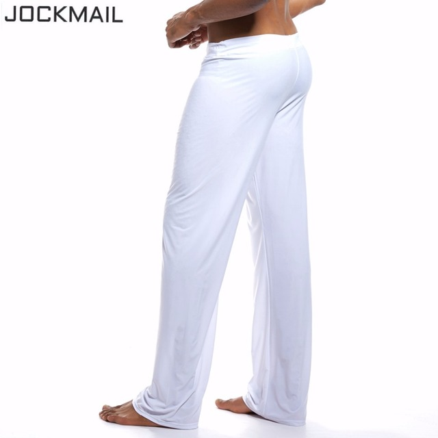 JOCKMAIL Brand Mens home clothing male pajama pants lounge pants soft silky Gay Men sleepwear elegant living sexy  hanging along