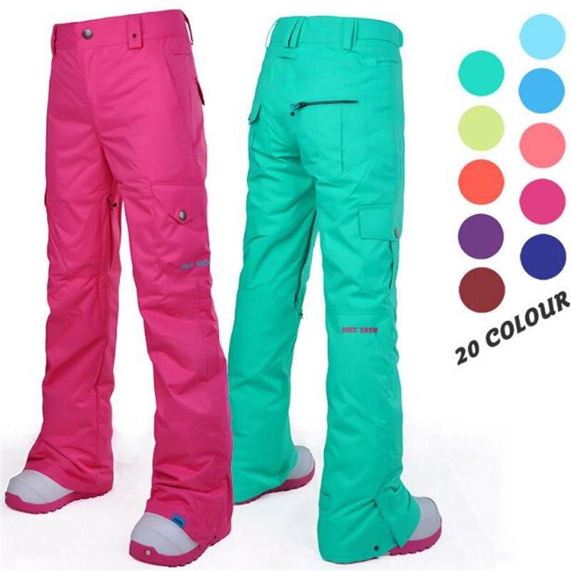 Gsou Snow pantalon de Snowboard femme imperméable femme respirant coupe-vent pantalon Sport extérieur Ski pantalon livraison gratuite pantalon de Ski
