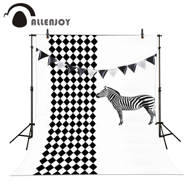 Allenjoy Photography fondo Zebra negro blanco diamante patrón ...