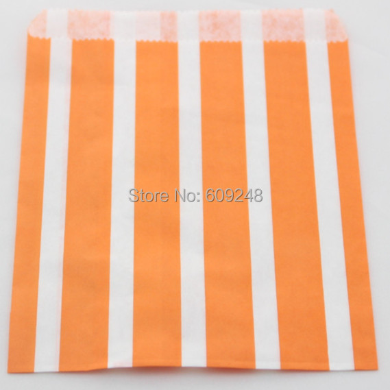 100pcs mixed colors favor buffet paper treat candy bags orange vertical party decorcheap wholesale bulk