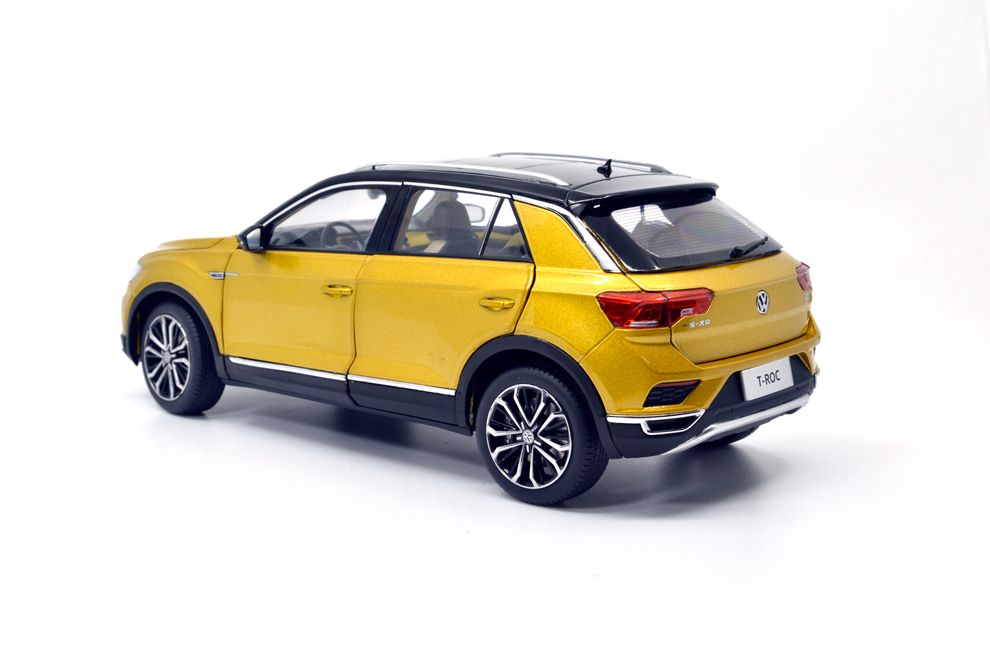 Paudi نموذج 1/18 1:18 مقياس VW فولكس واجن T Roc 2018 محدودة الذهب الأسود أعلى دييكاست نموذج سيارة لعبة نموذج سيارة الأبواب مفتوحة-في سيارات لعبة ومجسمات معدنية من الألعاب والهوايات على  مجموعة 3