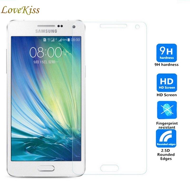A5 (5) מגן מסך זכוכית מחוסמת עבור Samsung Galaxy A5 2015 A500 A500Y A500M פיצוץ פרימיום מגן סרט מקרה