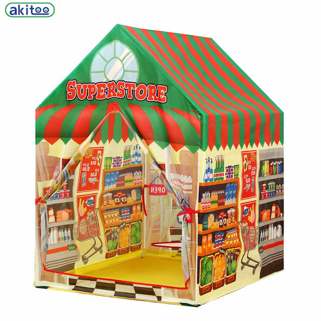 New Arrival Akitoo Childrenu0027s Toys Super Store Kid Tents Indoor Outdoor  Mongolia Game House Princess House Castle Kids Tent Gift