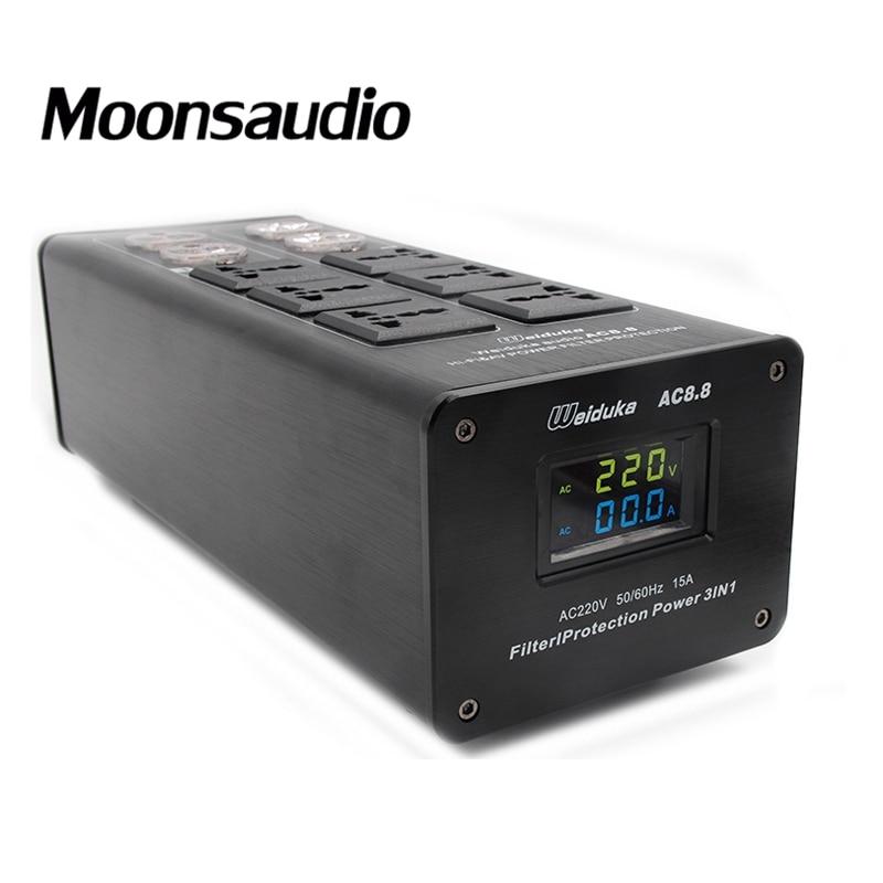 Free shipping Weiduka AC8.8 US version Mains Audio Power Purifier Filter without original box цена