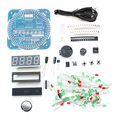 Free Shipping DIY DS1302 Rotation LED Electronic Clock Kit 51 SCM Learning Board timer diy parts kit