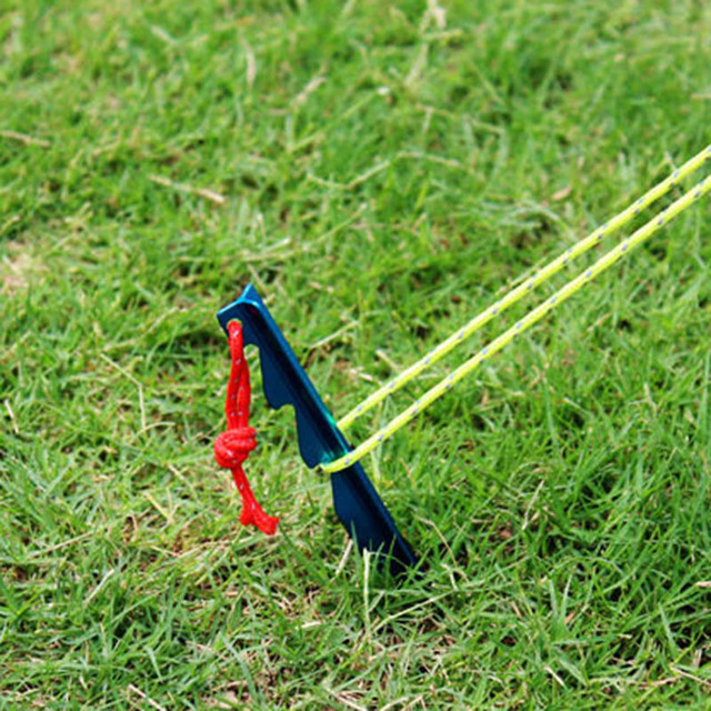 Adjustable Tent Pegs 18cm Aluminum Alloy Thicken Tent Stake with Rope Outdoor Tent Nail Peg Tent Easy Accessories Equipment