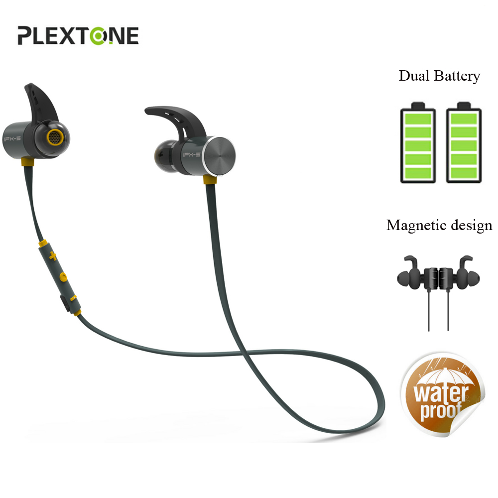 BX343 Wireless Bluetooth Headsets IPX5 Waterproof Earphons Stereo Earbuds Headphones with Microphone For Iphone Phone Sport