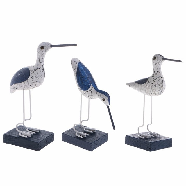 Mediterranean Style Seabirds Figurines 3 Pcs Set 3