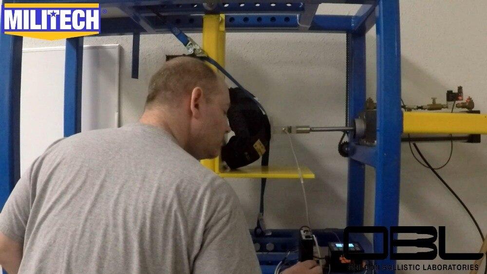 Herzhaft Militech Schnelle Helm Offizielle Labor Oben Nach Unten Kompression Prüfung Video Präsentiert Durch Obl Sicherheit & Schutz