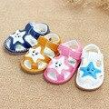 Bebés / niños primero Walker zapatos niños del niño del bebé de la boca de pescado zapatos de verano 0-1 años de edad tendón en la antideslizante finales