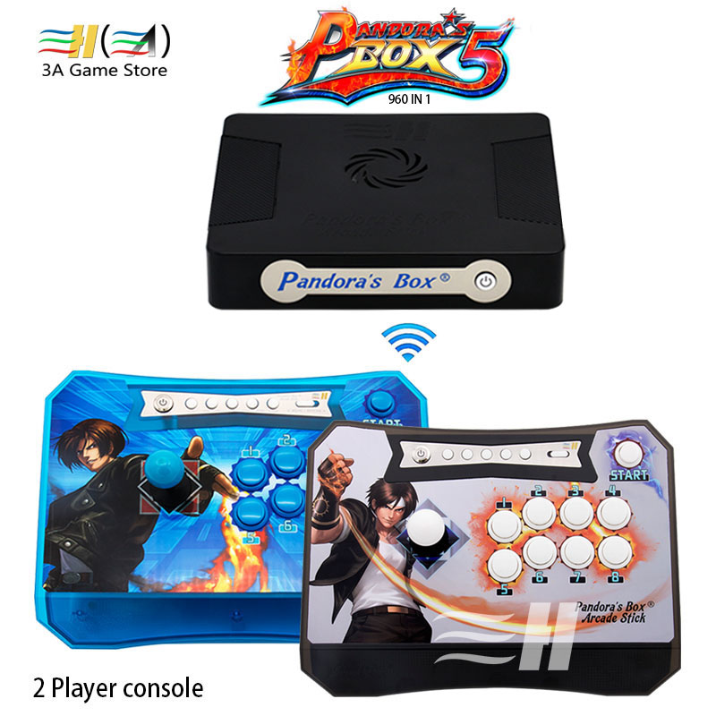 New Pandora Box 5 960 in 1 Pandora's box 5 wireless joystick arcade controller zero delay for children game machine mini console sanwa button and joystick use in video game console with multi games 520 in 1