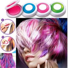 4pcs/lot New Dye Hair Powdery CakeTemporary Hair Chalk DIY Powder Soft Pastels Salon Party Pastels Pastels Crayons(China)