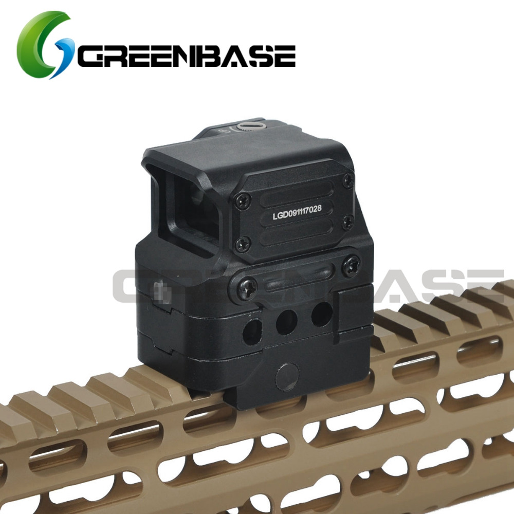 Greenbase 2017 New FC1 Red Dot Sight 2 MOA Reflex Sight 1X Holographic Sight Tactial Red Dot Scope Riflescope For 20mm Rail 556 a sight style holographic red