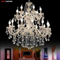 Luxury Modern Large Crystal Chandelier Stair Long Chandelier Lighting Fixture For Staircase Rain Drop Pending Lamp