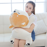 60cm 90cm Cartoon Lying Plush Stuffed Dog Big Toys Shiba Inu Dog Doll Lovely Animal Children Birthday Gift Corgi Plush Pillow