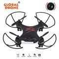 Gw009c global drone drone con cámara quadcopter 4ch rc quadrocopter helicóptero drones con cámara hd mini drone vs jjrc h20