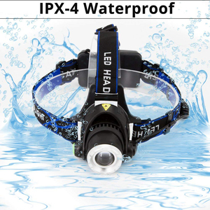 Image 4 - LED ヘッドライト XML V6/L2/T6 ズーム Led ヘッドランプトーチ懐中電灯ヘッドランプ使用 2*18650 バッテリーキャンプ自転車ライト得る