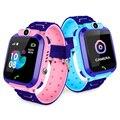 S12 водонепроницаемые Смарт-часы для детей LBS трекер умные часы SOS Вызов для детей анти-потерянный монитор детские наручные часы для мальчико...