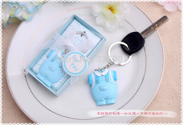 High Quality Baby Shower Party Favor Gifts For Guests   Baby Boy Baby Girl Keychain  Birthday Party Gift