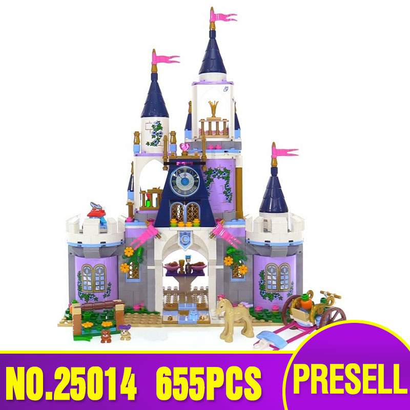 Lepin 25014 New Toys 655Pcs girl Series The 41154 Dream Castle Set building Blocks Bricks Educational Funny Toys For Kids Gifts shirly new rest stop dream house building blocks compatible with lego bricks girl s educational toys birthday christmas gifts