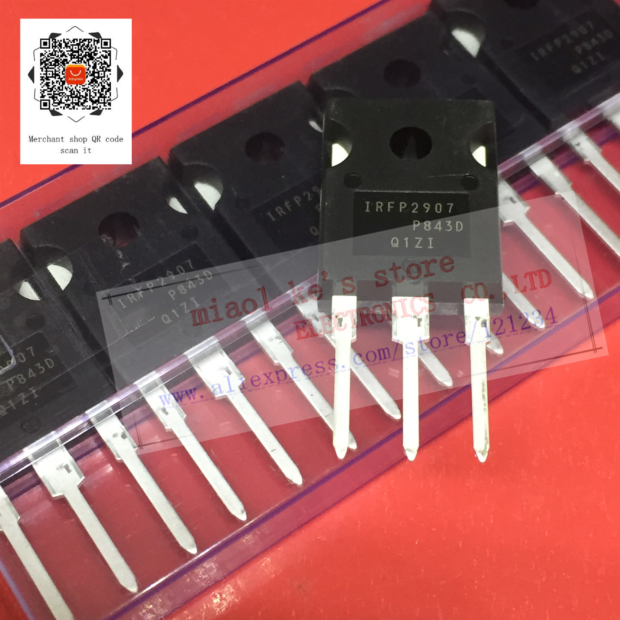 [ 5pcs/1lot ]100%New Original; IRFP2907PBF IRFP2907 TO-247 - MOSFET N-CHannel 75V 209A(Tc) 470W(Tc) TO247AC