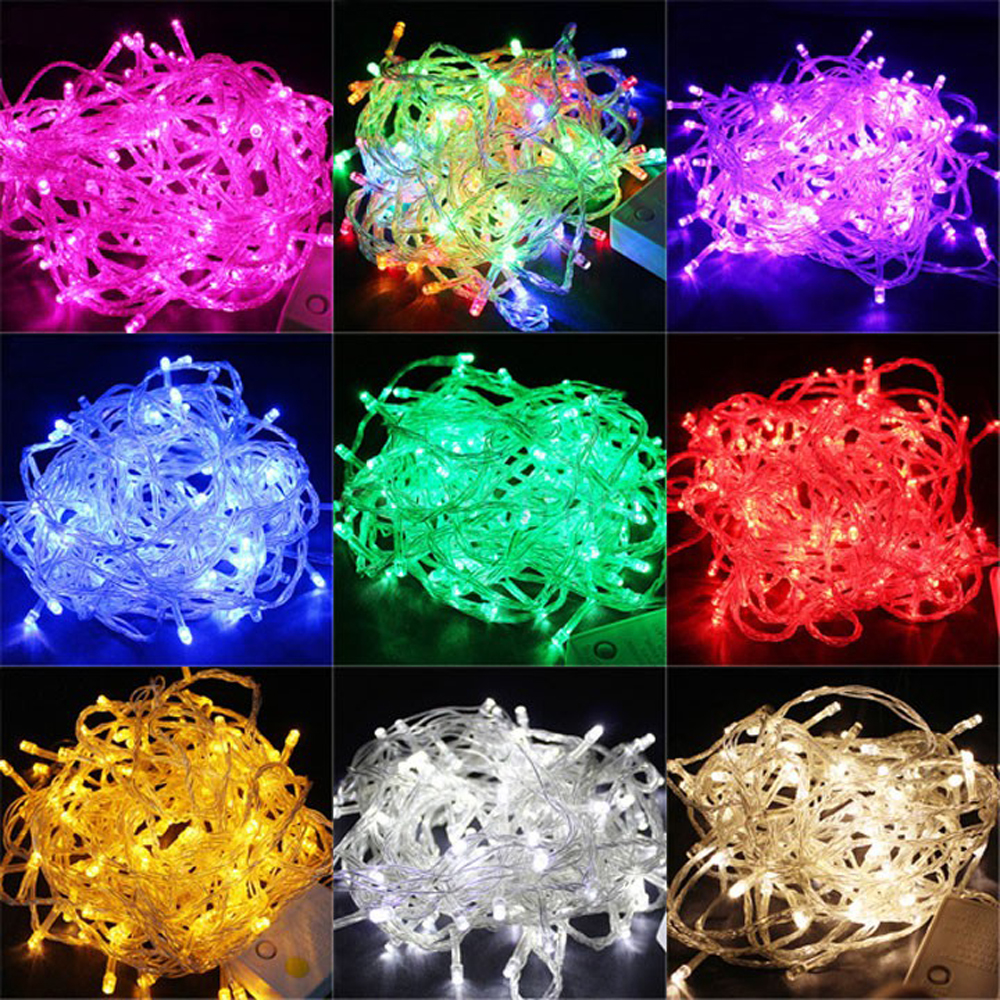 10M 100 LED String Lights Christmas Outdoor Decoration Wedding Party Garland Lighting guirlande lumineuse exterieur
