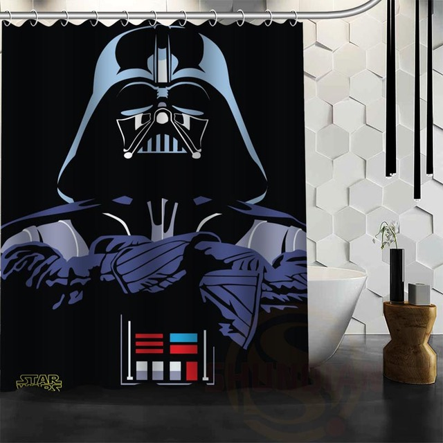 Best Nice Custom Star Wars Shower Curtain Bath Waterproof Fabric For Bathroom MORE SIZE WJY75