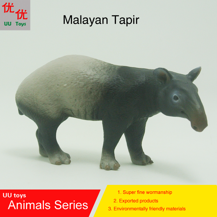 Hot toys: Malayan Tapir simulation model  Animals   kids  toys children educational props hot toys great white shark simulation model marine animals sea animal kids gift educational props carcharodon carcharias jaws