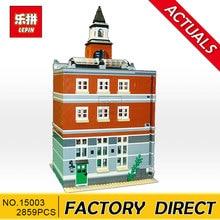Lepin15003 2859 Pcs O topwn salão Modelo Building Blocks Brinquedos Do Miúdo Kits compatível 10224 Educacional Presente do dia Das Crianças