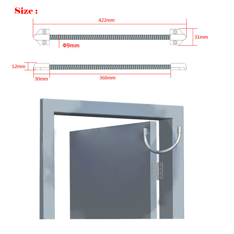 Access Control Accessories Kind-Hearted Door Loop Electric Exposed Mounting Protection Cable Line For Control Lock Door Lock Stainless Steel Sleeve Access Control