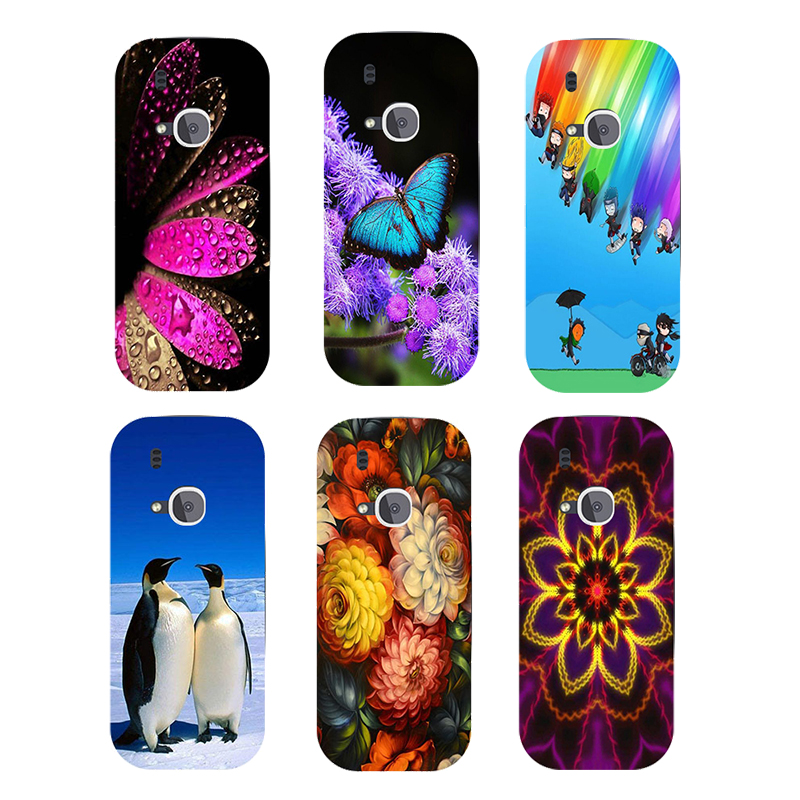 Soft Silicone Case For Nokia 3310 2017 Back Cover Rose Flower Bear Dog Printed Goldfish Penguin Butterfly Animal Phone Case