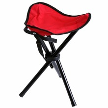 3 Colors Outdoor Camping Chair Foldable Portable Stool Three-legged Stool for Camping Fishing Hiking Picnic Fishing Chair Pesca